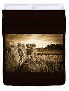 Rice Harvesting Duvet Cover