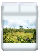 Rice Paddy Field Plantation Duvet Cover