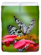 Rice Paper Butterflies Duvet Cover