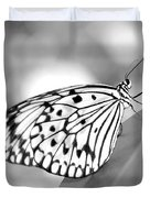 Rice Paper Butterfly Resting For A Second Duvet Cover