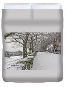 Richmond Hill Snow Duvet Cover
