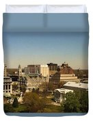 Richmond Virginia - Old And New Capitol Buildings Duvet Cover