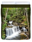 Ricketts Glen Delaware Falls Duvet Cover