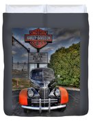 Ride A Harley Duvet Cover