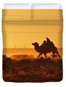 Riding Into The Sunset Duvet Cover