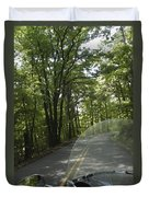 Riding The Woods Of Alabama Duvet Cover