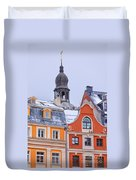 Riga Old Town Duvet Cover