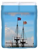 Rigging And Flags Duvet Cover