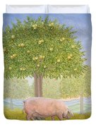 Right Hand Orchard Pig Duvet Cover