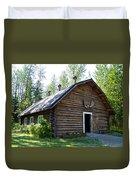 Rika's Barn In Big Delta Historical Park-ak  Duvet Cover