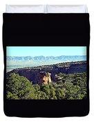 Rim Rock Scenic Lookout Duvet Cover