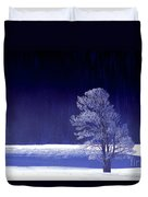 Rime Ice Covered Tree Yellowstone National Park Wyoming Duvet Cover