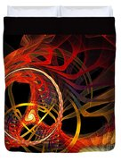 Ring Of Fire Duvet Cover by Andee Design