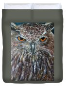 Rings Of Fire, Owl Duvet Cover