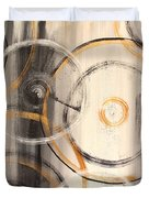 Rings Of Gold Abstract Painting Duvet Cover