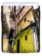 Rio De Janeiro Brazil -  Favela Housing Duvet Cover