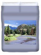 Rio Grande River Landscape Duvet Cover