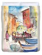Riomaggiore In Italy 01 Duvet Cover