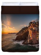 Riomaggiore Rolling Waves Duvet Cover by Mike Reid