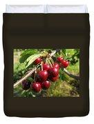 Ripe Cherries Duvet Cover