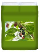 Ripe Mulberry On The Branches Duvet Cover
