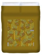 Rippled Dice Abstract Duvet Cover