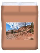 Rippled Rock At Zion National Park Duvet Cover