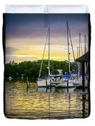 Ripples At Sunset Duvet Cover by Brian Wallace