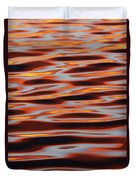 Ripples At Sunset Duvet Cover
