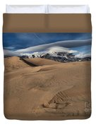 Ripples Dunes And Clouds Duvet Cover