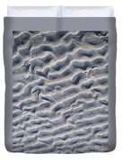 Ripples In The Sand And Surf Duvet Cover