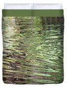 Ripples On Florida River Duvet Cover