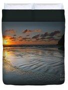 Ripples On The Beach Duvet Cover