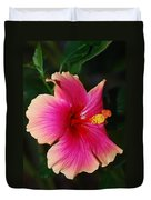 Rise And Shine - Hibiscus Face Duvet Cover by Connie Fox