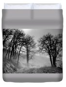Rising Mists In The Bald Hills Duvet Cover