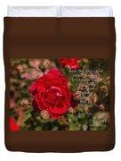 Risk To Blossom Duvet Cover