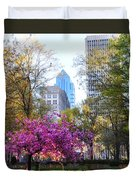 Rittenhouse Square In Springtime Duvet Cover