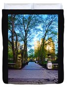 Rittenhouse Square Park Duvet Cover