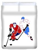 Rivalries Canadiens And Nordiques Duvet Cover