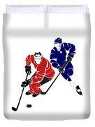 Rivalries Senators And Maple Leafs Duvet Cover