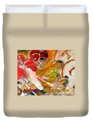 Rivals Face To Face 1 Duvet Cover by Mark Moore