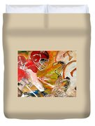 Rivals Face To Face  Duvet Cover by Mark Moore