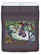 River And Plane Tree Duvet Cover