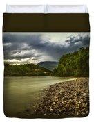 River Below The Clouds Duvet Cover