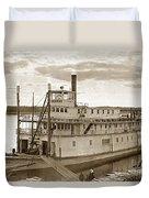 River Boat Yukon Stern Wheel Alaska 1915 Duvet Cover