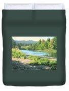 River Forks Morning Duvet Cover