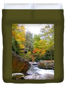 River House In The Fall Duvet Cover
