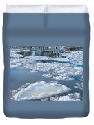 River Ice Duvet Cover