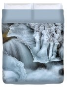 River Ice Duvet Cover by Chad Dutson