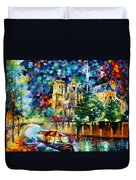 River In Paris Duvet Cover